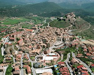 Cardona, Spain - Cardona from the air