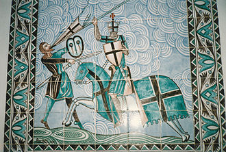 Order of Calatrava - A Knight of Calatrava killing his enemy.