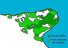 Cartina Puglia Zona Gargano.Parco Nazionale Del Gargano Wikipedia