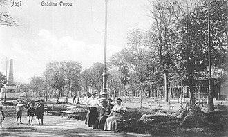 Copou Park - Visitors in Copou Park (archival image)