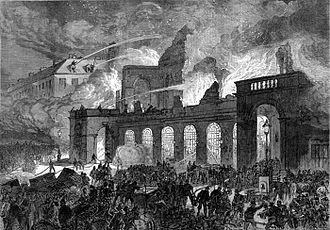 The Opera, destroyed by fire, 29 October 1873 Paris Opera fire 29 10 1873.jpg