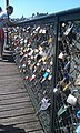 Paris Pont des Arts Lovelock vandalism 2012-05-28.jpg