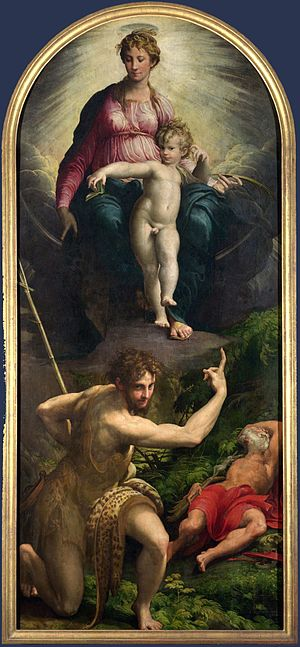 British Institution - Vision of Saint Jerome by Parmigianino, bought in 1823 for £3,302 for presentation to the National Gallery