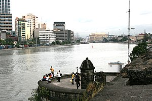 Environmental issues in the Philippines - Image: Pasig Intramuros