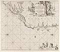 Paskaart van een gedeelte van de westkust van Noorwegen Paskaart van de Kust van Noorwegen Beginnende van de Wtweer Klippen tot aan Swartenos Naaukeurig opgestelt en van Veel fouten verbeetert (titel op object), RP-P-1896-A-19368-3022.jpg