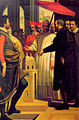 Passignano Michelangelo che da il modellino di San Pietro a Paolo IV.jpg