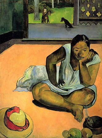 Worcester Art Museum - The Brooding Woman, Paul Gauguin, Worcester Art Museum. One of the four works stolen in 1972 but recovered soon after.