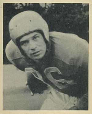 Paul Sarringhaus - Sarringhaus on a 1948 Bowman football card