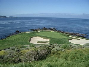 Monterey County, California - Image: Pebble Beach Golf Links, hole 7
