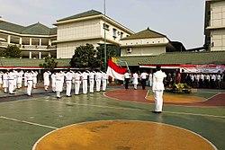 Pengibaran Bendera Merah Putih, Peringatan Hari Proklamasi Kemerdekaan Indonesia.jpg