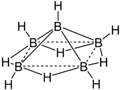 Strukturformel von Pentaboran(9)