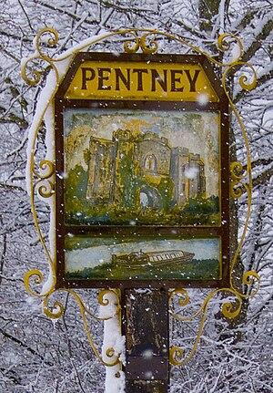 Pentney - Image: Pentneysign