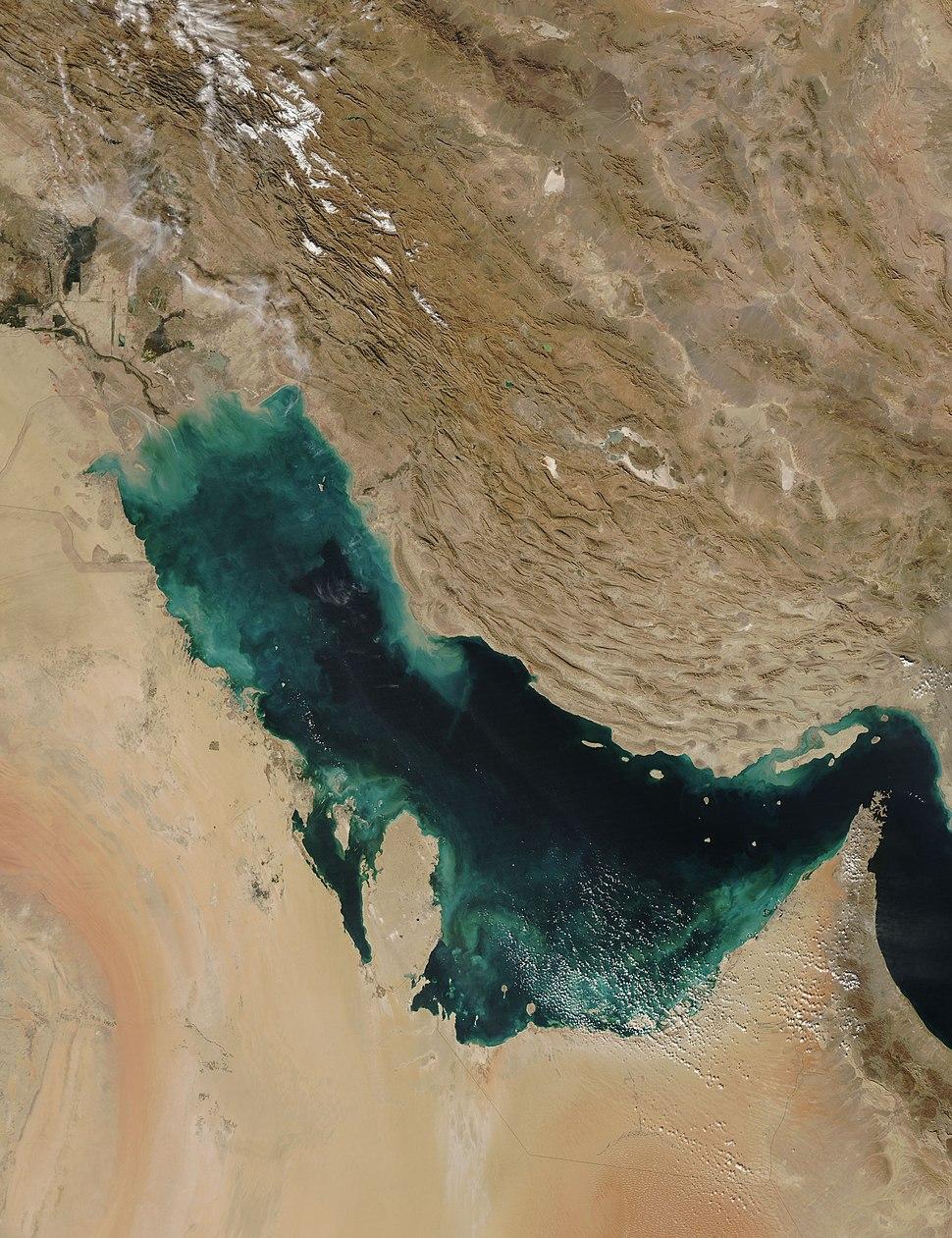 PersianGulf vue satellite du golfe persique