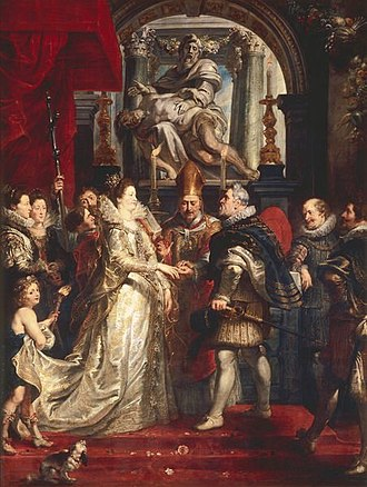 Proxy marriage - The Wedding by Proxy of Marie de' Medici to King Henry IV by Peter Paul Rubens (1622–25)