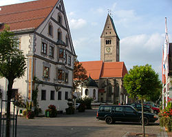Saint Martin parish church and town hall