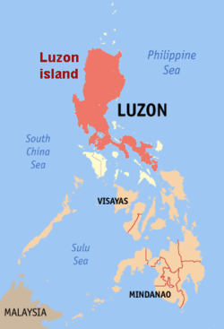 Location of Luzon in the Philippines