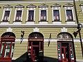 Pharmacy, Bacchus, IBUSZ. - 2 Dobó Square, Eger, 2016 Hungary.jpg
