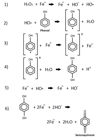 Phenol reaction with iron and peroxide.png