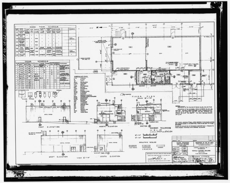 File Photocopy Of Drawing 1961 Architectural Drawing By