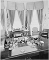 Photograph of President Truman's desk in the Oval Office - NARA - 200233.tif