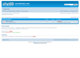 Screenshot di PhpBB