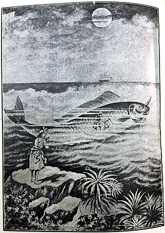 Matsya - Picture of Matsya Avatar- Fish incarnation of Lord Vishnu
