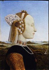 Portraits of the Duchess of Urbino, Battista Sforza