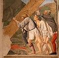 Piero della francesca, cappella bacci, 1452-69 circa, sollevamento della croce 02.jpg