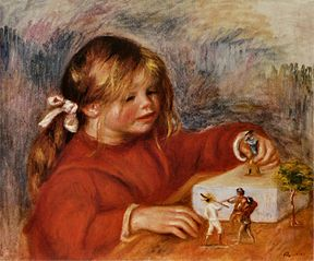 Claude Renoir jouant