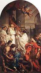 Emperor Valens before Bishop Basil (The Mass of St Basil)