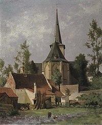 Piet Mondriaan - Gezicht op de achterzijde van een kerk - A5 - Piet Mondrian, catalogue raisonné.jpg