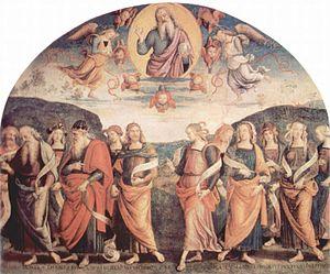 Collegio del Cambio - Pietro Perugino fresco at the Collegio del Cambio, 1497-1500