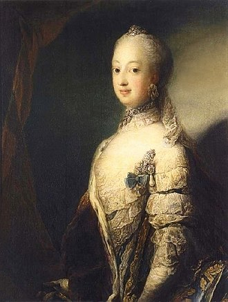 Sophia Magdalena of Denmark - Sophia Magdalena portrayed in 1765, the year before her marriage, by Carl Gustav Pilo