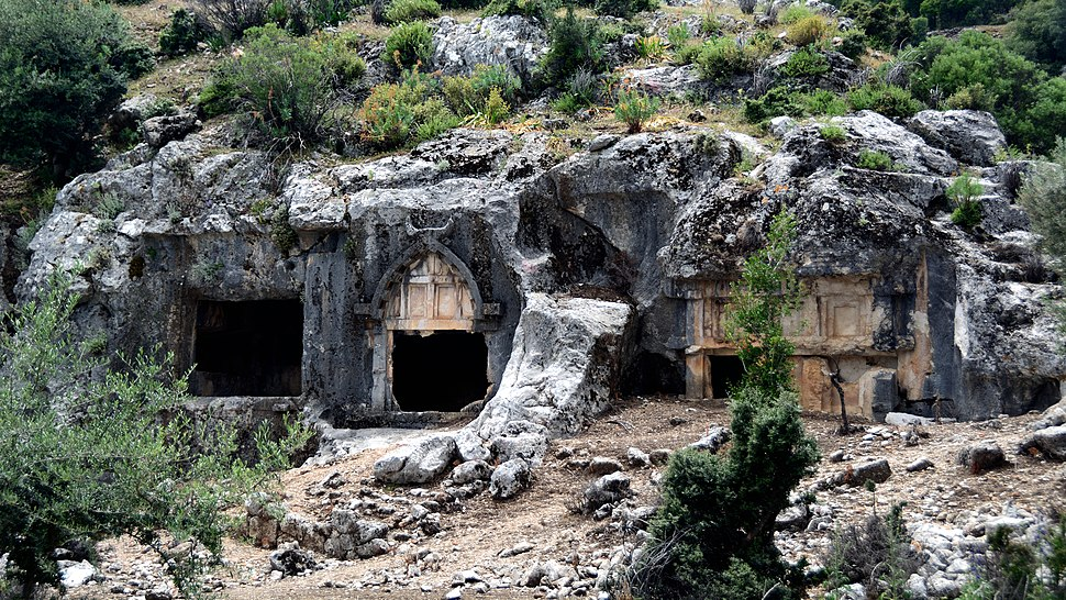 Pinara Ancient Lycian City Fethiye Turkey Rock Tombs
