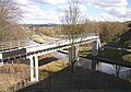 Pipe bridge, Bradley, Huddersfield - geograph.org.uk - 381616.jpg