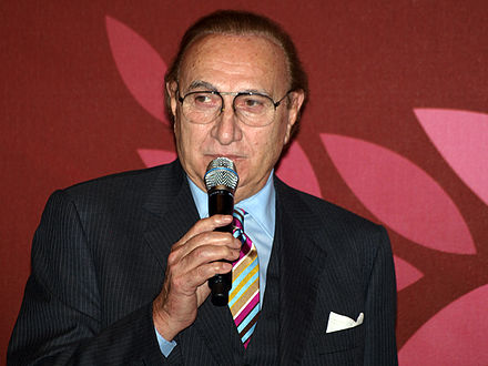 Pippo Baudo presented thirteen editions of the Sanremo Music Festival. Pippo Baudo, 14 December 2011.jpg