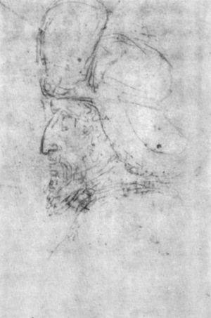 Portrait of Sigismund of Luxemburg - Pisanello drawing, Louvre Département des Arts Graphiques, INV 2479