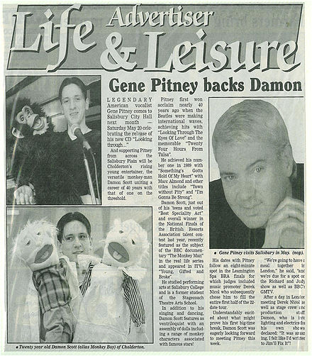 An article on Pitney's tour, featuring Scott. Pitney damon8.jpg