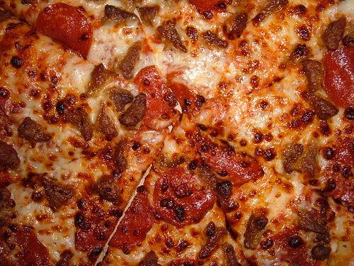 Pizza Hut Meat Lover's pizza