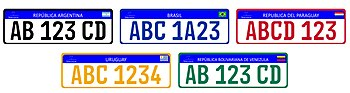 vehicle registration plates of the mercosur wikipedia