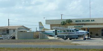 Placencia Airport - A Maya Island Air Cessna Caravan at Placencia Airport