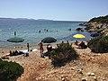 Plage sur le golfe de Palmas (île de Sant'Antioco) en Sardaigne en 2015.jpg
