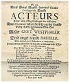 Plakat for en opførelse af Ludvig Holbergs Gert Westphaler.jpg