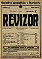 Plakat za predstavo Revizor v Narodnem gledališču v Mariboru 12. novembra 1927.jpg