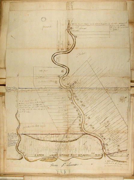 File:Plan cadastral de Batiscan, 1725.png