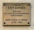 Plaque Josy Zinnen - coin de la rue du Palais de justice et de la rue de la Monnaie - Luxembourg-ville.jpg