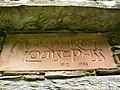 Plaque on preserved ruin of cottage in Glendhoo - geograph.org.uk - 491380.jpg