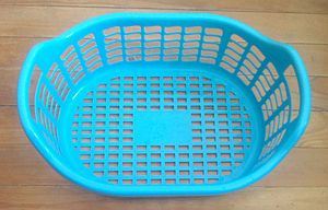 Stadium (geometry) - The bottom of this common plastic basket is stadium-shaped.