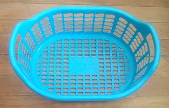 Stadium (geometry) - The bottom of this plastic basket is stadium-shaped.