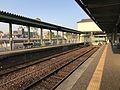 Platform of Imari Station (Matsuura Railway) 3.jpg